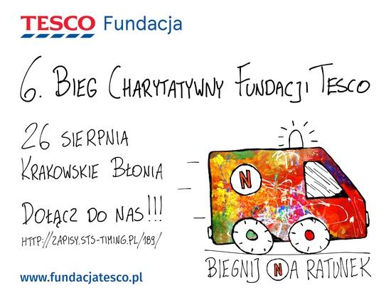 TPD Kraków biegnie na ratunek z Fundacją TESCO!