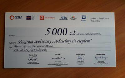 """""""Podzielmy się ciepłem""""- TPD w programie Gminy Miejskiej Kraków"""
